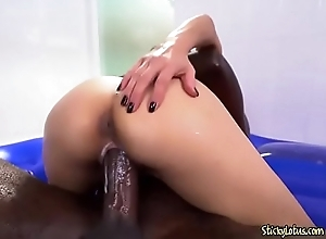Curvy Asian Plow Jackie Lin Loves A Big Sombre Cock