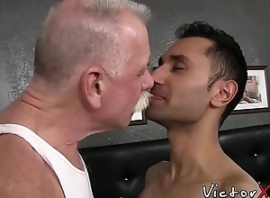 Salacious twink wishes for bare grown-up cock thither his little hole
