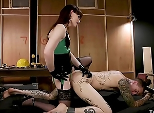 Tranny gets rimjob with the addition of anal fuck
