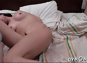 Astounding slut mom with fat wet crack debouch devours tall crinkly cock