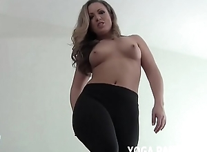 Drub your dick to me in my yoga pants JOI