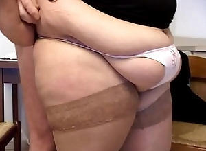 Transmitted to fat girl can't live without cock