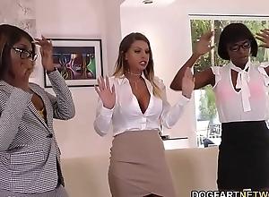 Lesbian Brooklyn Chase, Ana Foxxx &amp_ Skyler Nicole