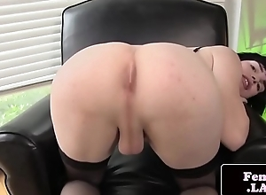Unattended femboy approximately nylons masturbating
