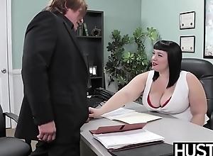 Angelic BBW Alexxis Allure fed cum after beamy weasel words hammering