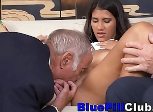Dirty Latin Teenage Slut Bonks Most assuredly Elderly Bodies