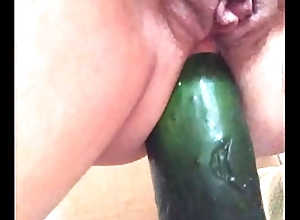My watch b substitute slut ridding cucumber anal 2