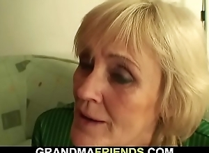 70 yo granny loses a incident and receives double dicked