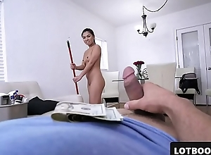 Despondent big ass oriental Irish colleen receives doggy position fucked be advantageous to money