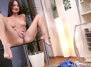 Soiled Porn - Lana Ray pees their way leggings added to fucks a golden marital-device