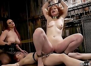 Mistress whips plus anal fucks one slaves