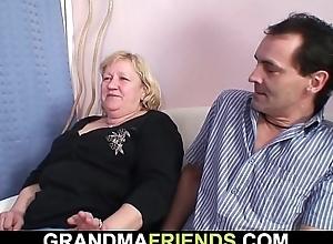 70 yo granny gives double head then fucked