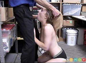 Cute Blonde Teen Shoplifter Kate Kenzi Verge on Charge from Foreigner Powered Sentinel