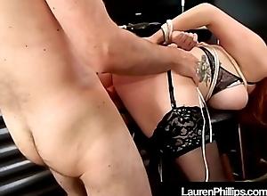 Red Headed Hottie Lauren Phillips Bound, Punished &amp_ Fucked!