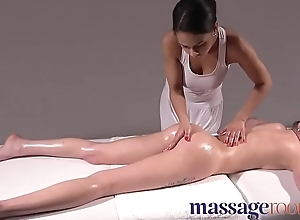 Massage Rooms French and Czech interracial fruity rub down and 69