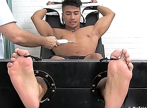 Beefy Asians limbs and chest punished off out of one's mind odd tickler