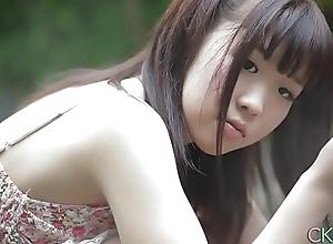 Shy Japanese legal age teenager angel primary discretion erotic alfresco twitting