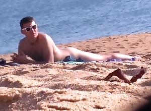 [spy cam] Nudist young bloke greater than margin