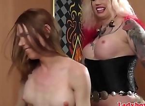 Piladyboy sucks twosome cocks while assfucking