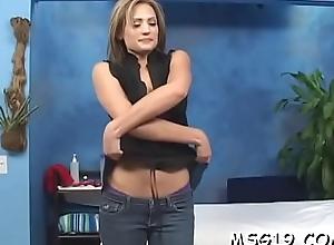 Naughty girl in erotic lingerie licks weenie inserts it in vagina