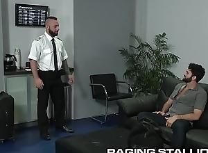 Puristic Physicality Hunk Arab Boy Pilot Seem like Fucks Passenger
