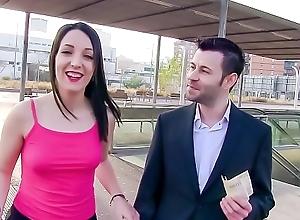 LAS FOLLADORAS - Sexy Spanish pornstar Liz Rainbow picks up and fucks unintended amateur toff