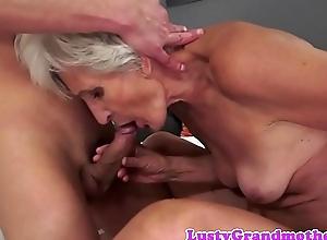 European grandma engulfing and dickriding