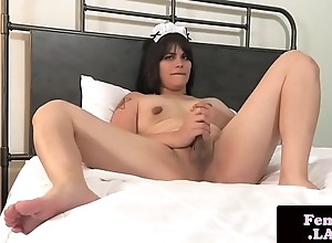 Femboy wench jerking off hard unearth