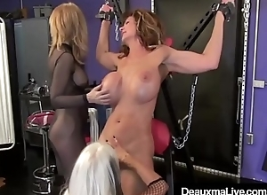Cougar Deauxma Whipped In Cage &amp_ On Substandard By Nina &amp_ Sally!