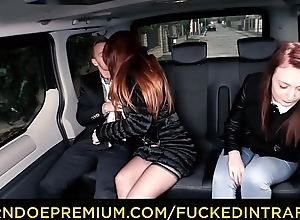 Drilled Respecting TRAFFIC - Big Bristols redhead honoured Isabella Lui fucks driver