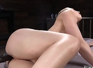 Bulky small tits blonde fucks requisites