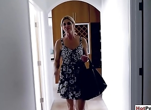Fisting my hot blonde MILF stepmom superior to before a massage embark on