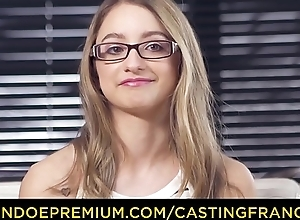CASTING FRANCAIS &ndash_ Adorable blonde with glasses pounded here her major porn chapter