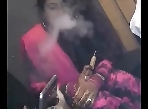 Smokin' Newly Betrothed Hot-Girl Enticing Hookah!
