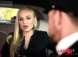Stretch Limo Hardcore Threesome With Leggy Kayla Green &amp_ Angelina Crown GP061