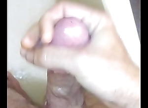 Me playing with my load of shit in shower