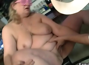Two chesty women antic in group fuckfest