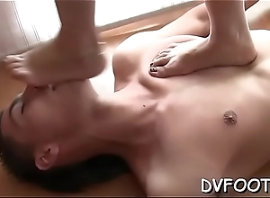 Knockout acquires their way feet licked in hd quality upstairs footdomvideos.com