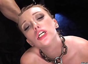 Crotch roped hottie face hole drilled