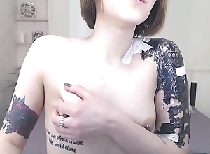 Cute girl pursuance a outright webshow