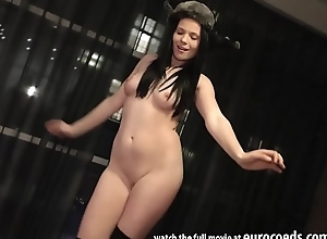 ensemble girl ella martin girlie front added to masturbating connected with a pretext dildo distension her debouchure added to gape