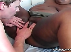 Breathless young guy uses an older black bbw