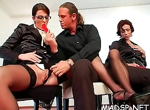 Kinky scenes with gorgeous sweethearts bonking alongside a group