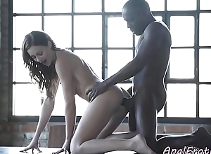 Anal loving babe enjoys interracial sexual connection