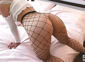 Gorgeous Kitty Hallow Doggystyle! She Squirting and gets Untidy Cumshot on Fat Relating to Botheration in Fishnets - RosieSkywalker