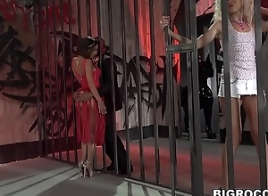 Huge coal-black load of shit stretches several assholes - Monique Woods, Malena and Vinny Star