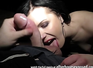 luiza saint giving a private pov strip tease respecting an increment of oral job respecting cum swallowing ending