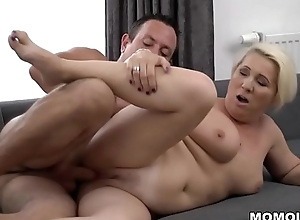 Busty mature bonks much younger supplicant - Bibi Left side